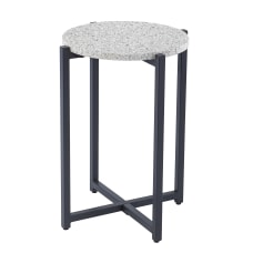 Southern Enterprises Dalbrent Round Accent Table