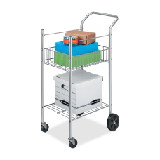 Fellowes Double Basket Wire Mail Cart