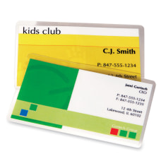 Fellowes Glossy Business Card Laminated Pouches