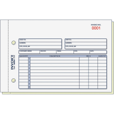 Rediform 2 Part Carbonless Invoice Form