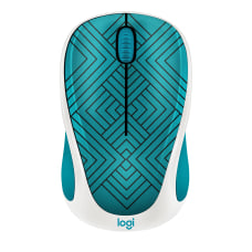 Logitech Design Collection Wireless Mouse Teal
