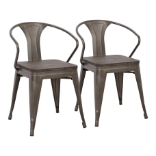LumiSource Waco Chairs AntiqueEspresso Set Of