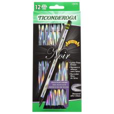 Ticonderoga Noir Black Wood Pencils 2