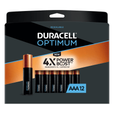 Duracell Optimum AAA Alkaline Batteries Pack