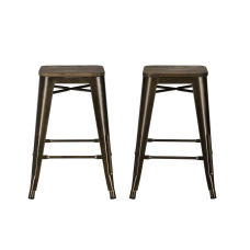 DHP Fusion Backless Counter Stool Bronze