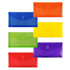 JAM Paper Plastic Booklet Envelopes 10