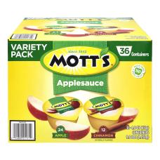 Motts Applesauce Cups Variety Pack 4