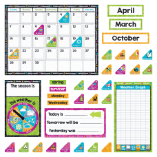 Trend Color Harmony Calendar Bulletin Board