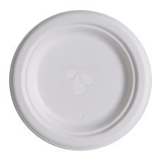 Highmark Compostable Sugarcane Paper Plates 6