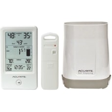 AcuRite Rain Gauge with IndoorOutdoor Temperature
