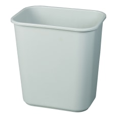 Rubbermaid Durable Rectangular Plastic Wastebasket 7