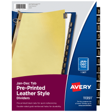 Avery 30percent Recycled Black Leather Tab