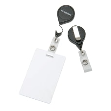 Retractable ID Badge Holder Black