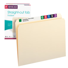 Smead File Folders Letter Size Straight