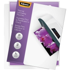 Fellowes Laminating Pouches Glossy Letter 3