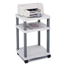 Safco Wave Deskside Printer Stand Gray