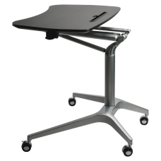 Lorell Height Adjustable Mobile Sit To