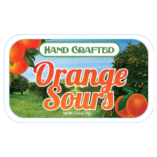 AmuseMints Fruit Sours Orange 056 Oz
