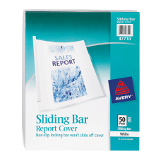 Avery Sliding Bar Report Covers White