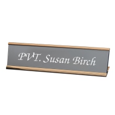 Custom Engraved Plastic Desk Signs With