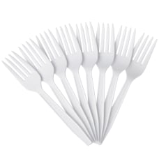 Highmark Plastic Utensils Medium Size Forks