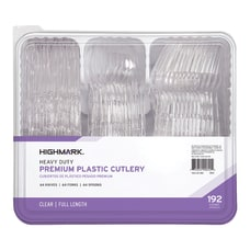 Highmark Heavy Duty Plastic Cutlery Clear