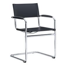 Linon Dorton Chair ChromeBlack