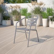 Flash Furniture Metal Slat Back Restaurant