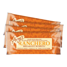Amys Ranchero Breakfast Burritos With Cheddar