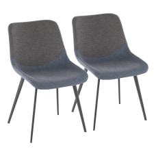 LumiSource Outlaw 2 Tone Chairs BlueGray