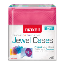 Maxell Standard Jewel Cases Assorted Colors