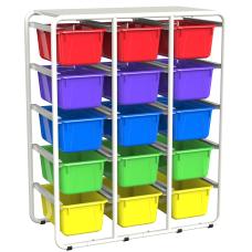 Storex Storage Rack With 15 Cubby