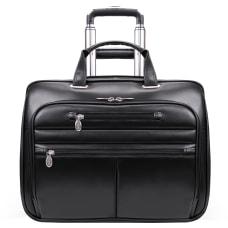 McKleinUSA WRIGHTWOOD Wheeled Laptop Case Black
