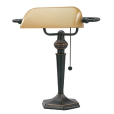 Realspace Bankers Lamp 15 H Amber