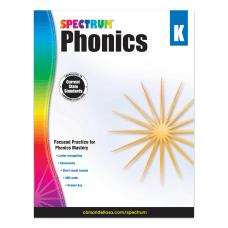 Carson Dellosa Spectrum Phonics Workbook Kindergarten