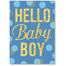 Viabella New Baby Boy Greeting Card