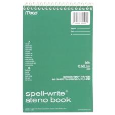 Mead Spell Write Steno Book 80