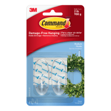 3M Command Clear Hooks Medium Clear
