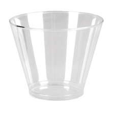 Comet Squat Tumblers 9 Oz Clear