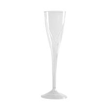Classicware Clear Plastic Champagne Flutes 5