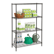 Realspace Steel Wire Shelving 4 Shelves