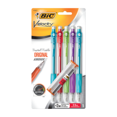 BIC Velocity Mechanical Pencils 09mm Assorted