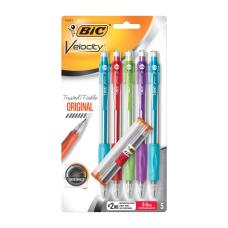 BIC Velocity Mechanical Pencils 09mm Assorted