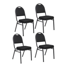 Boss Office Products Stacking Chairs Black