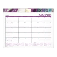 Cambridge Agate Monthly Desk Pad Calendar