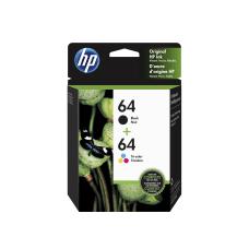 HP 64 Black Tricolor Original Ink