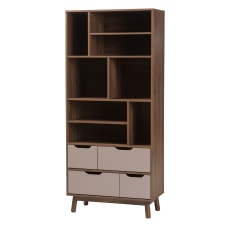 Baxton Studio Mick Wood Bookcase 8