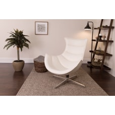 Flash Furniture Cocoon Swivel Chair WhiteSilver