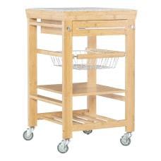 Linon Tyler BambooGranite Kitchen Cart 36