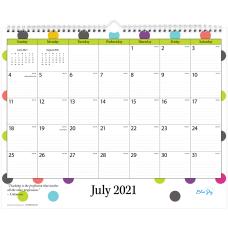 Blue Sky Monthly Teacher Wall Calendar